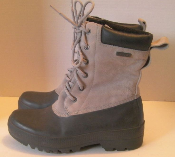 Cat Women 8 Inch Leather Waterproof Oil Resistant Fleece Lined Boot Size 6 Wide #Caterpillar #SnowWinter