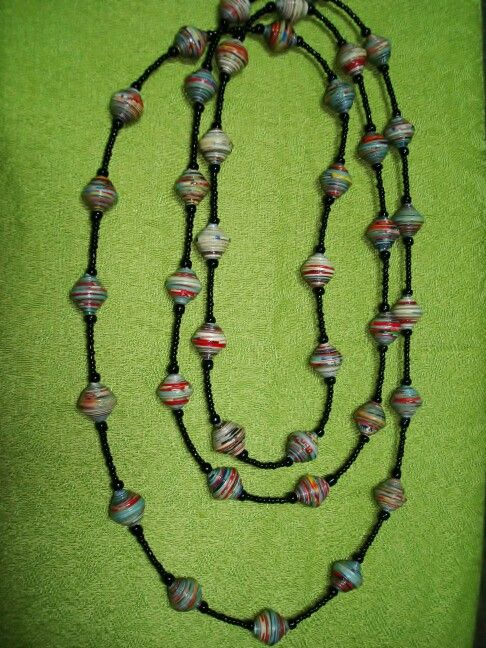 paper bead necklaces The experts at hgtvcom show you how to make a lightweight necklace by finger weaving beads from paper.