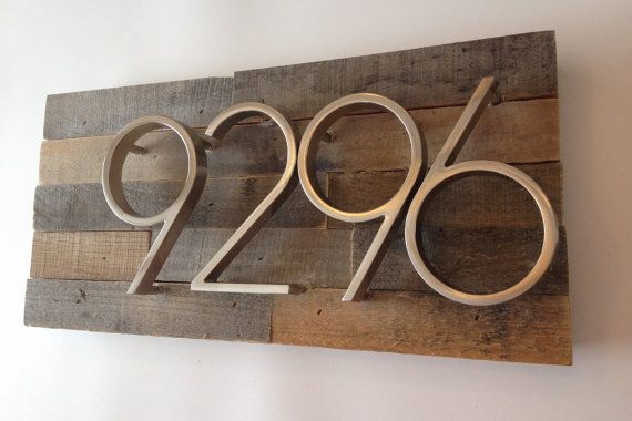 Rustic Address Plaque made from Reclaimed by MadeWithBeerInHand