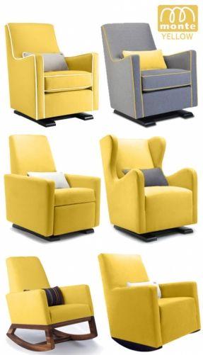 Monte Modern Nursery Furniture Glider Rocker Yellow ... Someone Buy Me This  For My