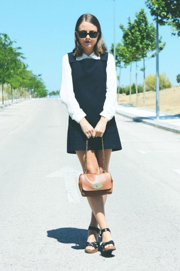 Vanessa Bruno dress, The Kooples shirt, Isabel Marant wedges, Mulberry lily handbag
