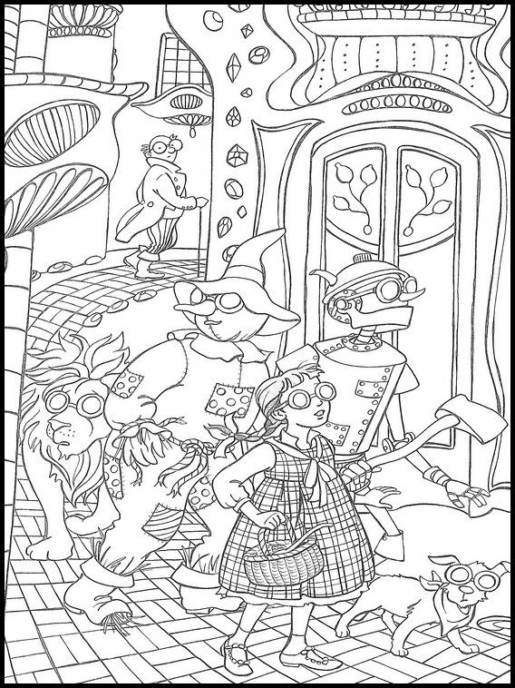 ausmalbild zauberer von oz  tiffanylovesbooks