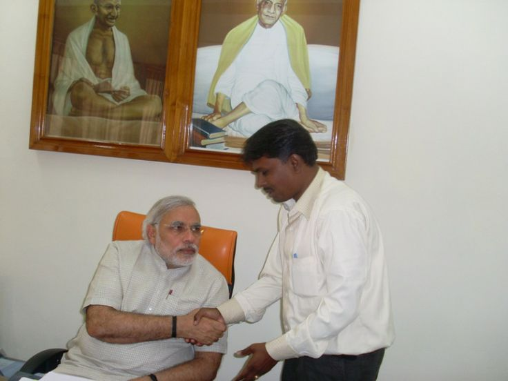 ˜WITH CM SHREE NARENDRAMODIJI IN CMO GANDHINAGAR
