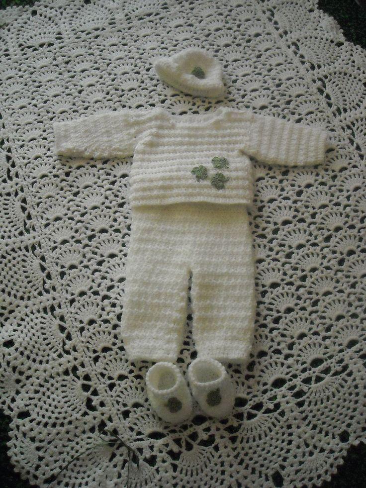 Ravelry: Mint Green Newborn Baby Set (Crochet) by Olga Skelly, nee Alexeenko