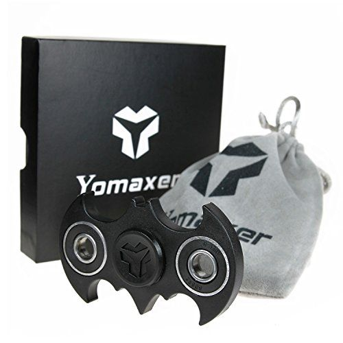 Yomaxer Fidget Spinner Bat Shape Hand Spinner R188 Main Bearing Cool EDC Focus Toy  A must fidget toy of your collections | a hero can be anyone.  Full of hero complex from childhood,this black bat design fidget spinner is attractive to cartoon and superhero fans,pretty cool-looking meet your heroic imagination.  High practical performance | average 2-5 min spin time,keep spinning whenever you are in a trance or stay on the ball.  Help pass time on the go.  Great stress reducer for fid...