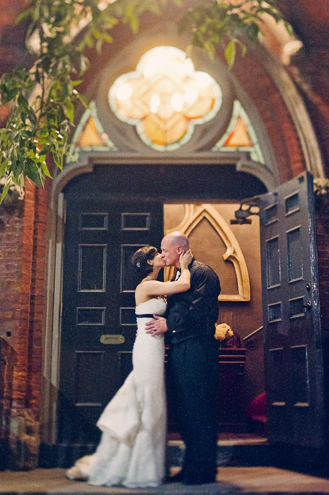 beautiful moment at Berkeley Church  - Toronto Wedding Venue- vintage wedding photography