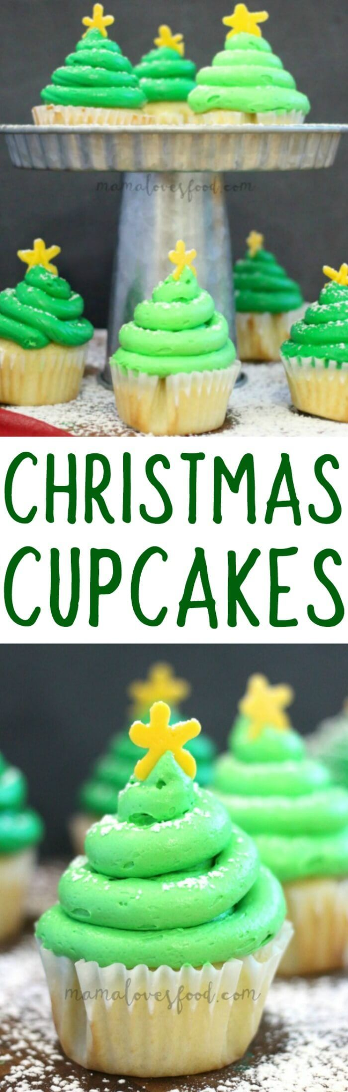 Love the tip for making them tall!  Big hit at our house!! - CHRISTMAS TREE CUPCAKES