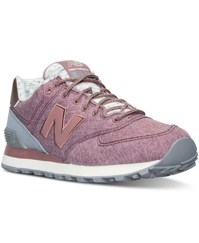 new balance women's 574 heathered elegance fashion sneaker