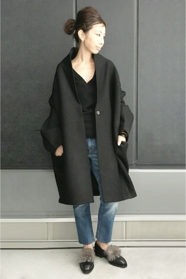 REALITY STUDIO Wool Cocoon Volume Coat◆