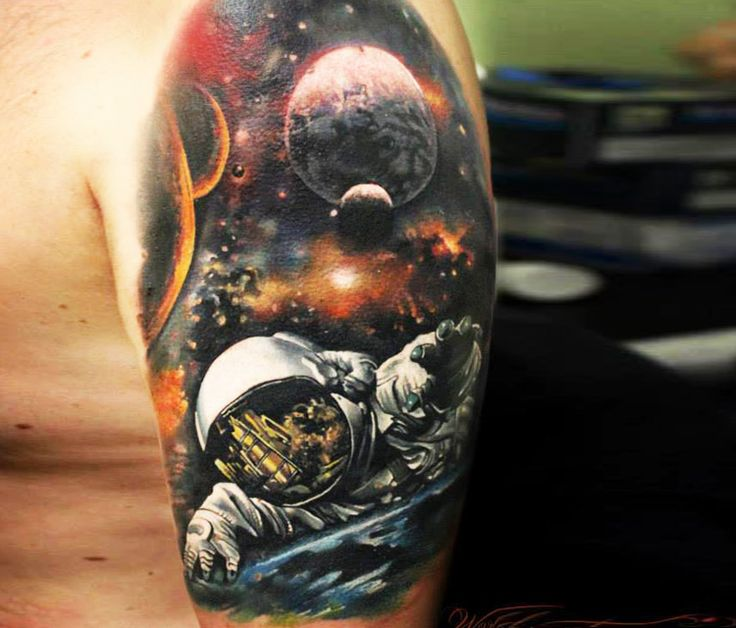 Space tattoo by Sergey Shanko