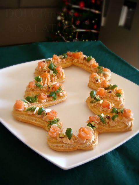 DOLCEmente SALATO: Albero di choux con mousse al salmone