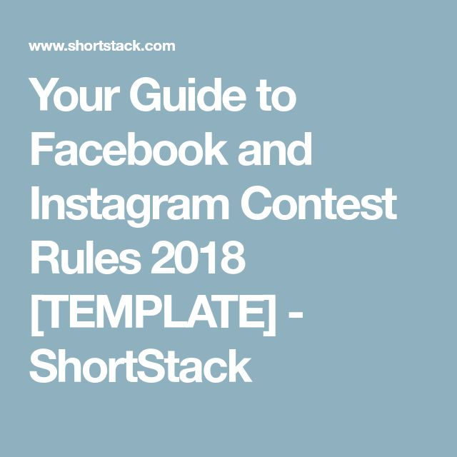 Best 25 contest rules ideas on pinterest john fluevog shoes your guide to facebook and instagram contest rules 2018 template shortstack pronofoot35fo Images