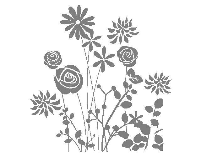 """. Vinilos Adhesivos """"Explosión floral"""" 03272 - Tienda online de vinilos decorativos, stickers, wall art, decoración"""
