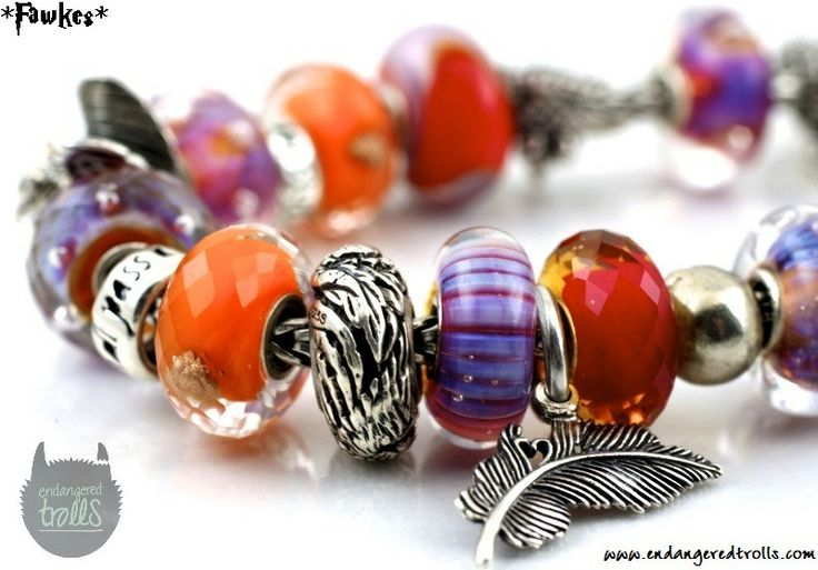 Fawkes charm bracelet