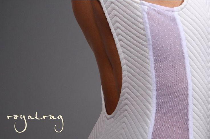 """Are You Ready For The Weekend?  """"Loved Body"""" #royalrag #newcollection #bodysuit #white #transparency #fitting #polkadot #chic #love"""