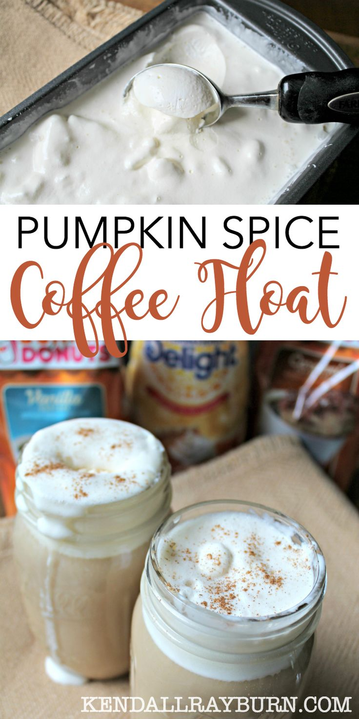 Spice Ice Cream Coffee Float - Perfect for Fall! | Pumpkins, Ice cream ...