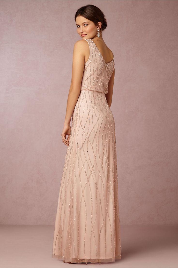 Bhldn S Adrianna Papell Brooklyn Dress In Midnight Blush