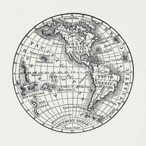 Best 25 earth globe map ideas on pinterest globe of earth antique earth globe map art western by sparrowhouseprints on etsy gumiabroncs Images