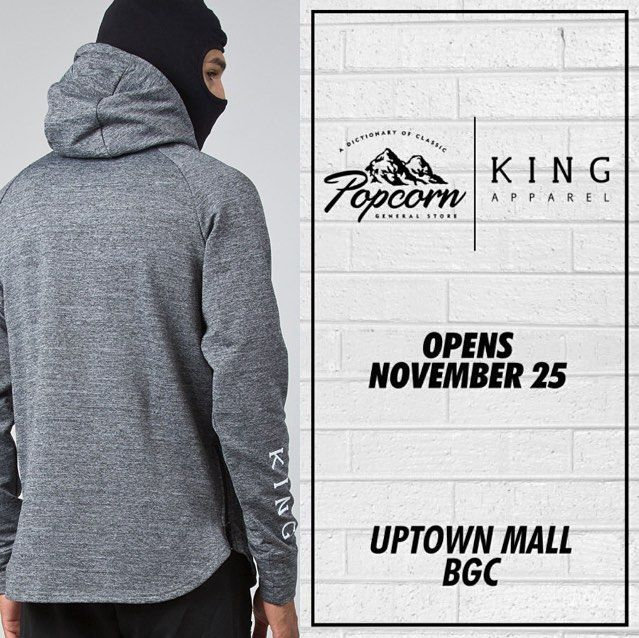 Grand opening tomorrow and honoured to be part of it @popcorngeneralstore first #philippines location opens in Uptown Place Mall Manila. #kingapparel #popcorn #manila #streetwear #streetfashion #fashion #uk #hk