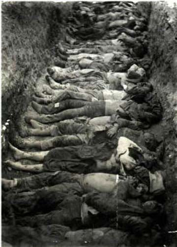 Mass grave for dead Armenians. Armenian Genocide, 1915. It is acknowledged to have been one of the first modern genocides, as scholars point to the organized manner in which the killings were carried out to eliminate the Armenians, and it is the second most-studied case of genocide after the Holocaust. The word genocide was coined in order to describe these events.