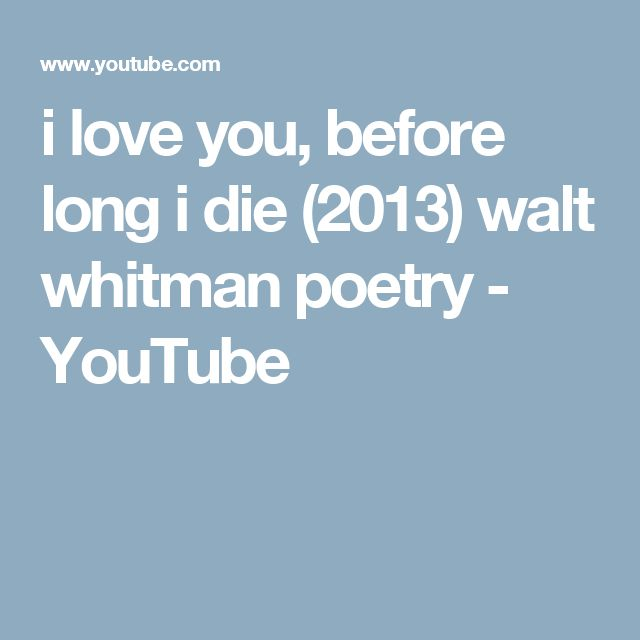 Walt Whitman Quotes Love: Best 20+ Walt Whitman Ideas On Pinterest