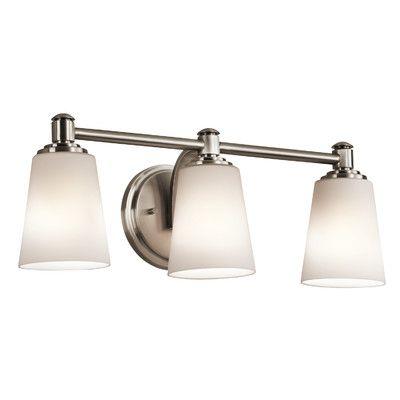 Kichler Quincy 3 Light Bath Vanity Light & Reviews | Wayfair