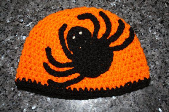 Spider Halloween Crochet Hat Pattern by CraftyMommyCrafts on Etsy, $2.99