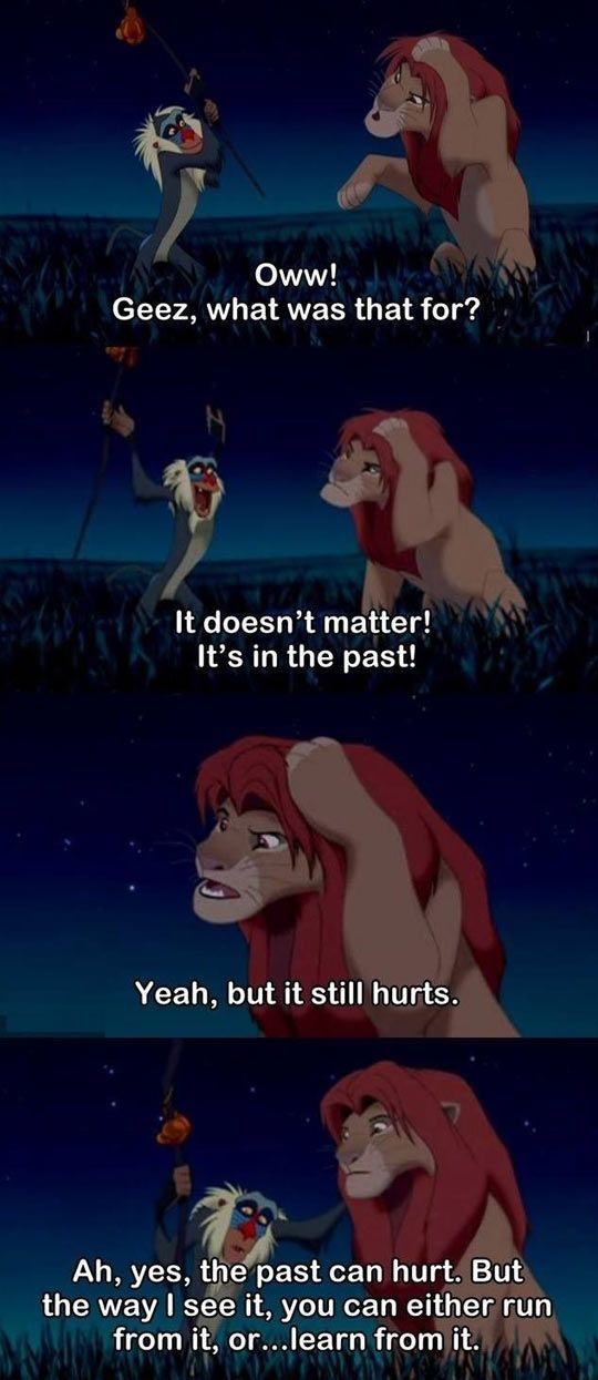 Who knew the lion king could help adults realize pain too