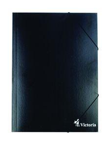 Victoria Spisové desky s gumou A4 lepenka - černé