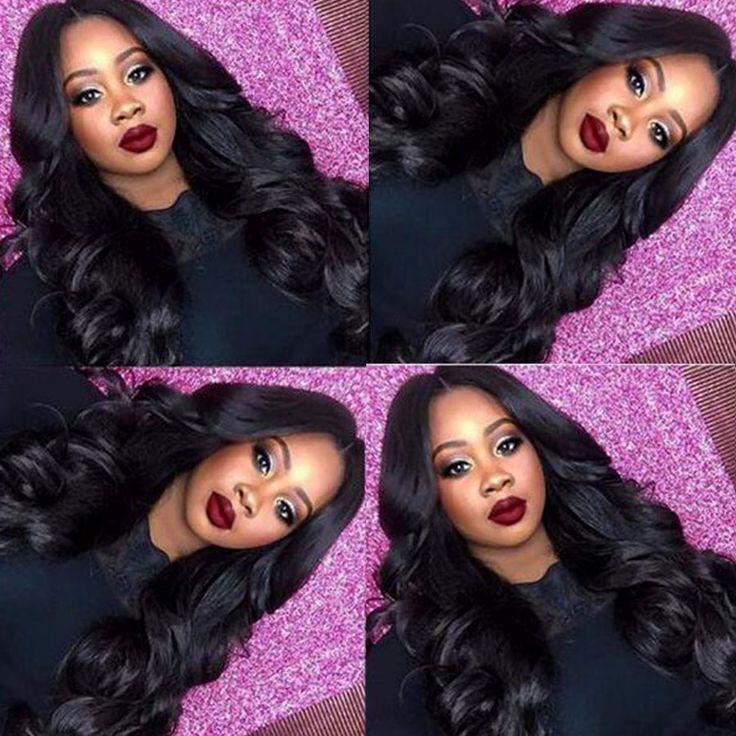 Queen hair producten braziliaanse body wave nertsen ocean golvend haar 3 st Goedkope Braziliaanse Virgin Haar Body Wave Virgin Braziliaanse Haar # 1B
