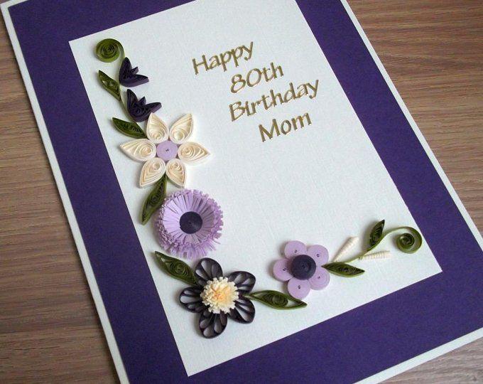 Handmade Personalised Birthday Card  Any Age Name