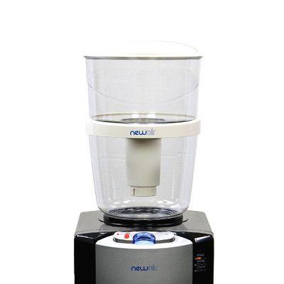 NewAir 3 Gallon Filtered Water Bottle for Top Loading Water Dispenser