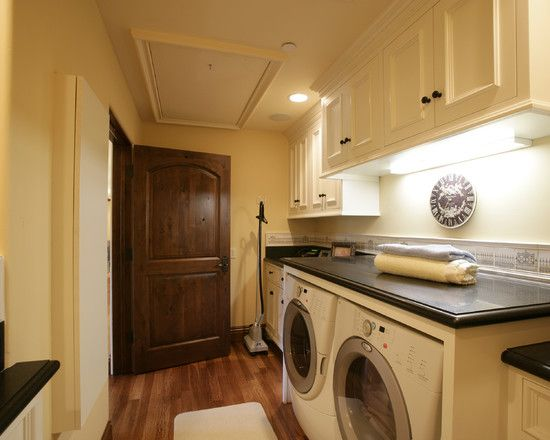 Laundry RoomInteriors Doors, The Doors, Doors Design, Custom Home, Laundry Room Design, Laundry Rooms, Mediterranean Design, White Cabinets, Wood Doors