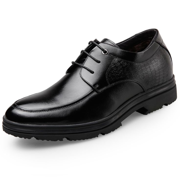 TopoutShoes - Winter warm elevator dress shoes lace up taller formal shoes  2.6inch / 6.5