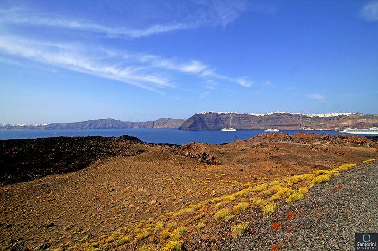 Santorini from the volcano