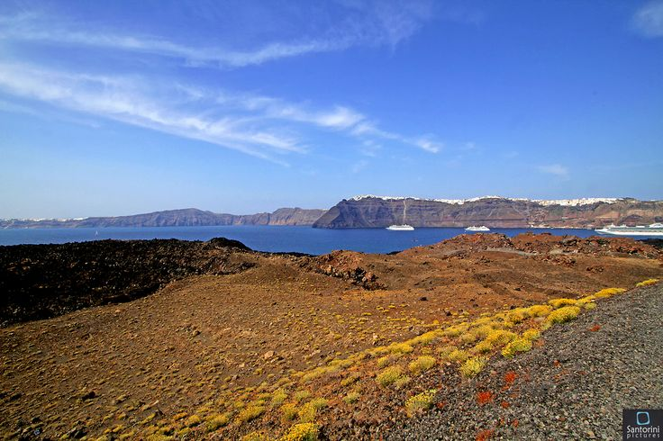 Santorini from the volcano