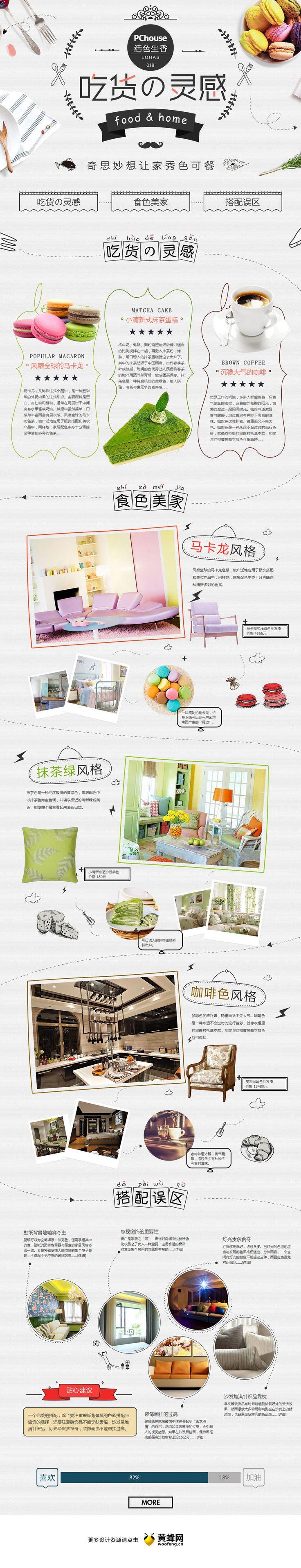 http://life.pchouse.com.cn/144/zt1440632.html #web #design 美食与家居的色彩关联 家居专题,来源自黄蜂网http://woofeng.cn/