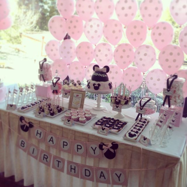 Minnie Mouse Theme: The Sweet & Pink Table