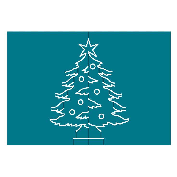 Cards in Nothing Flat Christmas Tree- die cut