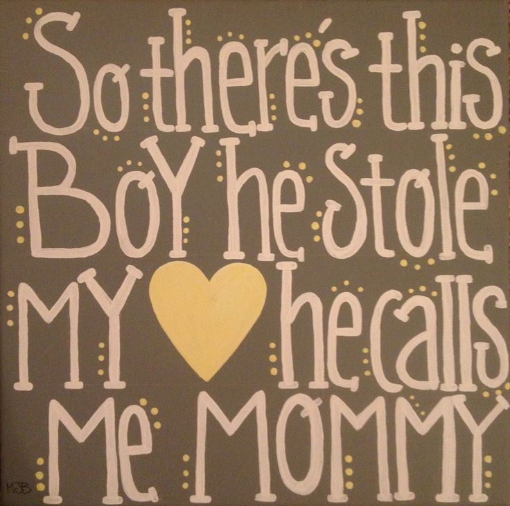 Mom Of Boys Quotes: A Sweet Quote For Moms Of Little Boys 12 X 12 $50 Comment