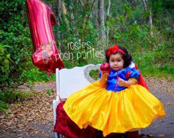 Vestido de Blanca Nieves para disfraz de cumpleaños o sesión de fotos Blancanieves traje cumpleaños vestido disfraz de Blanca Nieves para fiesta de cumpleaños