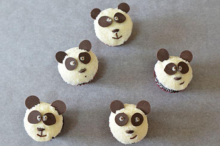 Panda mini muffins