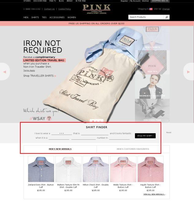 New page www.thomaspink.com