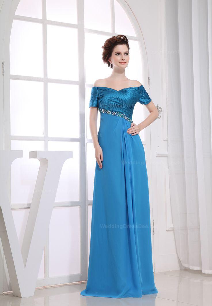 Off shoulder charming princess chiffon dress