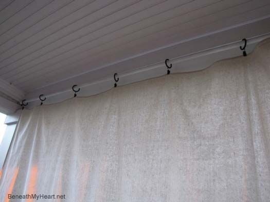 Make Your Own Outdoor Curtain Panels Drop Cloth Curtains Curtain Ideas And Cloths
