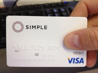 Simple visa card photo #BankInnovation