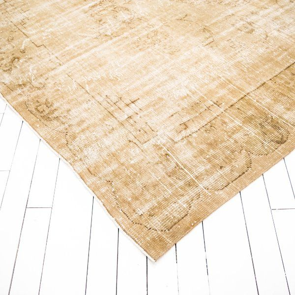 Antique Faded Neutral Rug | Vintage Brown Persian Rug | via Birch & Brass Vintage Rentals for Weddings and Special Events in Austin, TX