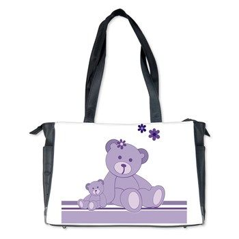Purple Awareness Bears Diaper Bag