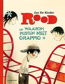 Rood of waarom pesten niet grappig is - Jan De Kinder. 'Dit is een verhaal dat de emotionele intelligentie van kinderen aanscherpt. Het nodigt uit om in de schoenen van de ander te gaan staan. Kinderen kunnen in het verhaal gemakkelijk de verschillende rollen herkennen en zichzelf een plaats geven' (Lees-Wijzer). Zie ook: http://www.jandekinder.be/Boeken/Rood-of-waarom-pesten-niet-grappig-is http://edwardvandevendelleestips.blogspot.nl/2013/03/rood-of-waarom-pesten-niet-grappig-is.html