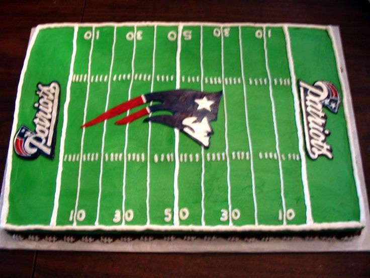 New England Patriots Football Field  on Cake Central
